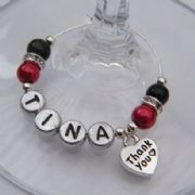 Thank You Personalised Wine Glass Charm - Elegance Style